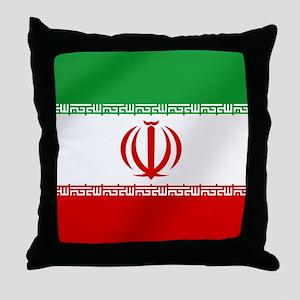 Flag of Iran Throw Pillow