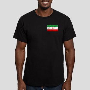 Flag of Iran Men's Fitted T-Shirt (dark)