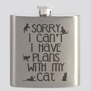 Sorry - Plans With My Cat Flask