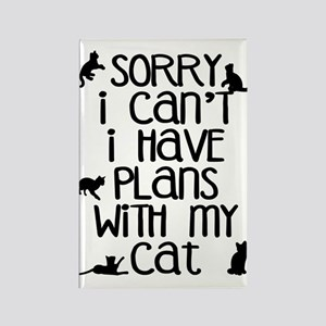Sorry - Plans With My Cat Rectangle Magnet
