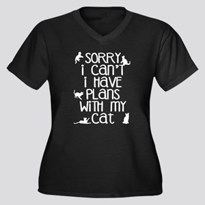 Funny Cat Excuse Plus Size T-Shirt