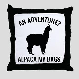 Alpaca My Bags Throw Pillow