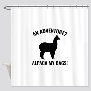 Alpaca My Bags Shower Curtain