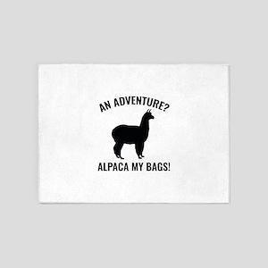 Alpaca My Bags 5'x7'Area Rug