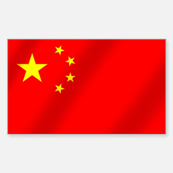 Flag of China Sticker (Rectangle)