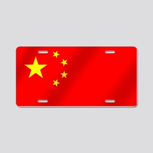Flag of China Aluminum License Plate