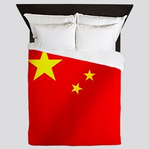 Flag of China Queen Duvet