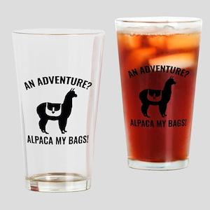 Alpaca My Bags Drinking Glass