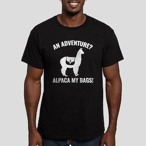 Alpaca My Bags Men's Fitted T-Shirt (dark)