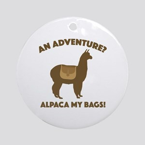 Alpaca My Bags Ornament (Round)