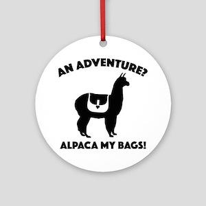 Alpaca My Bags Ornament (Round)