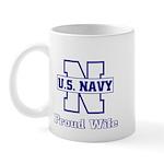 Navy Proud Wife Mug