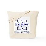 Navy Proud Wife  Tote Bag