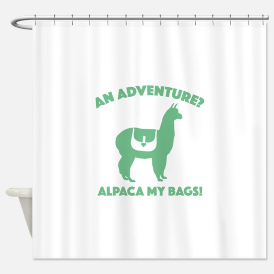 Alpaca My Bags Shower Curtain