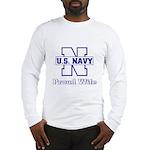 Navy Proud Wife Long Sleeve T-Shirt