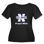 Navy Proud Wife Women's Plus Size Scoop Neck Dark
