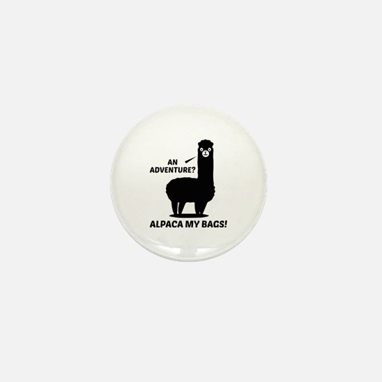 Alpaca My Bags Mini Button