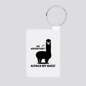 Alpaca My Bags Aluminum Photo Keychain