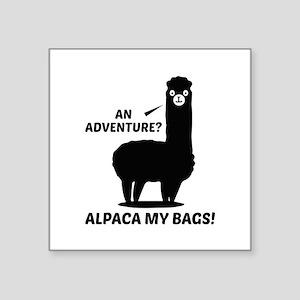 "Alpaca My Bags Square Sticker 3"" x 3"""