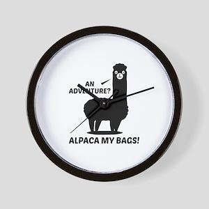 Alpaca My Bags Wall Clock