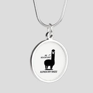 Alpaca My Bags Silver Round Necklace