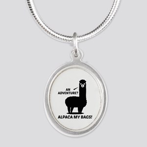 Alpaca My Bags Silver Oval Necklace