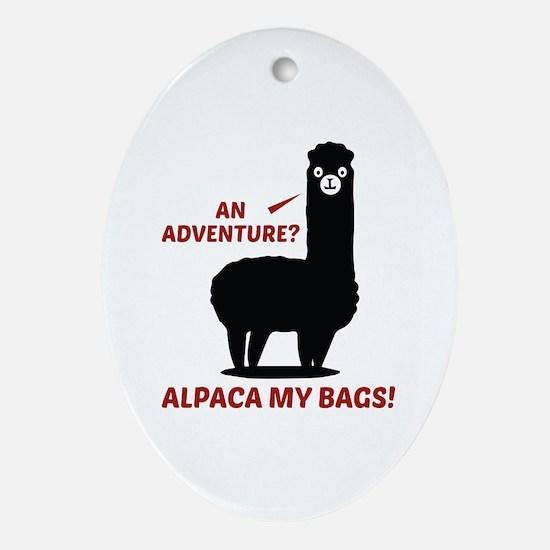 Alpaca My Bags Ornament (Oval)