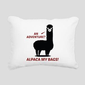 Alpaca My Bags Rectangular Canvas Pillow