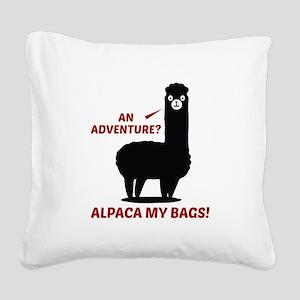 Alpaca My Bags Square Canvas Pillow
