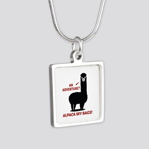 Alpaca My Bags Silver Square Necklace