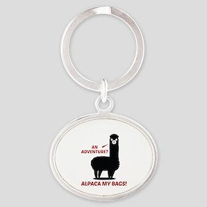 Alpaca My Bags Oval Keychain