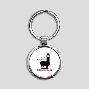 Alpaca My Bags Round Keychain