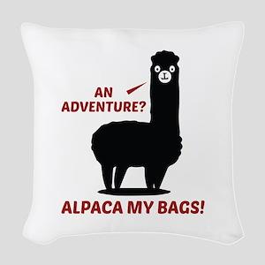 Alpaca My Bags Woven Throw Pillow