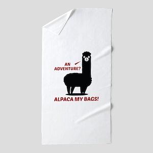 Alpaca My Bags Beach Towel