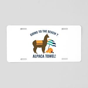 Alpaca Towel Aluminum License Plate