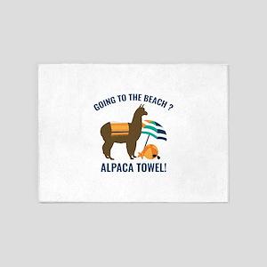 Alpaca Towel 5'x7'Area Rug