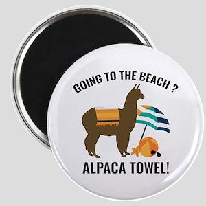 Alpaca Towel Magnet