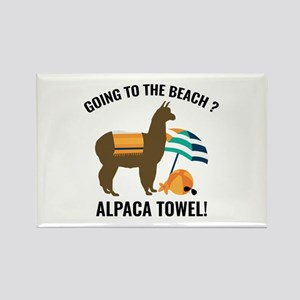 Alpaca Towel Rectangle Magnet
