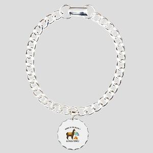 Alpaca Towel Charm Bracelet, One Charm