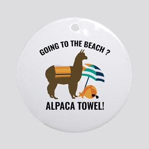 Alpaca Towel Ornament (Round)