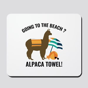 Alpaca Towel Mousepad