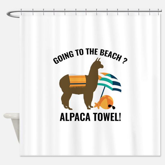 Alpaca Towel Shower Curtain