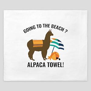 Alpaca Towel King Duvet
