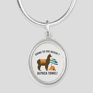 Alpaca Towel Silver Oval Necklace