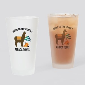 Alpaca Towel Drinking Glass