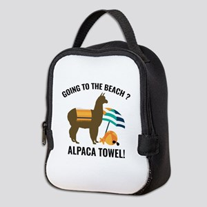 Alpaca Towel Neoprene Lunch Bag