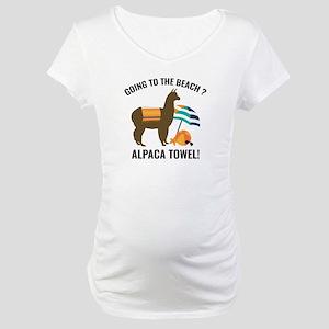 Alpaca Towel Maternity T-Shirt