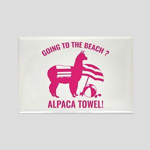 Alpaca Towel Rectangle Magnet