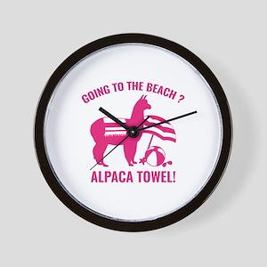Alpaca Towel Wall Clock
