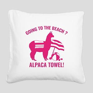 Alpaca Towel Square Canvas Pillow